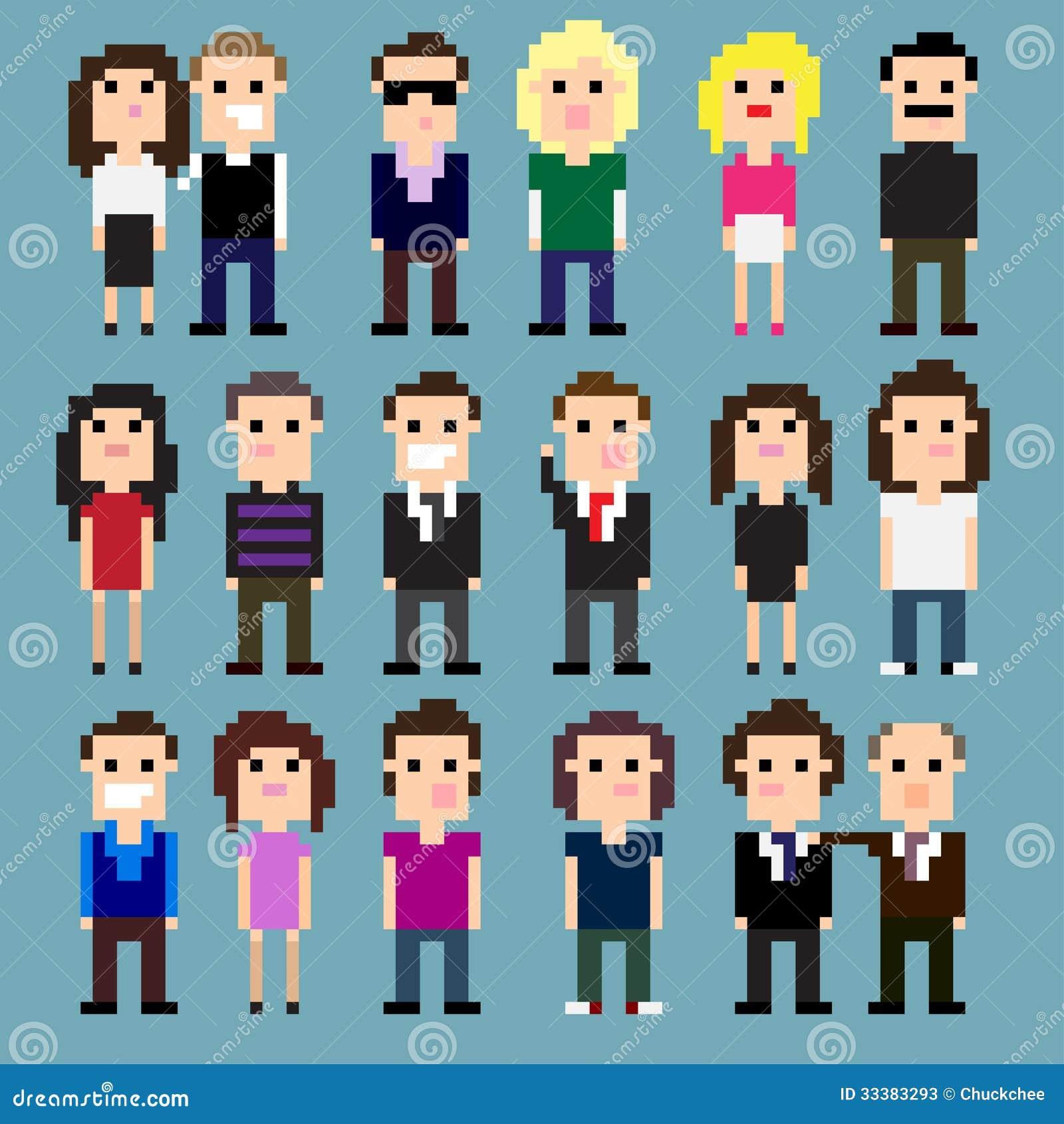 Personnes de pixel