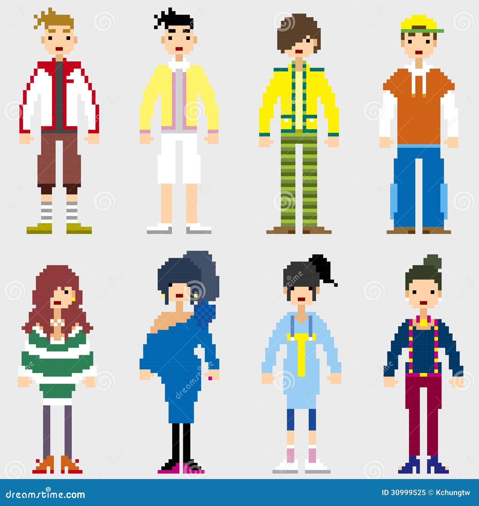 Personnes de pixel de mode