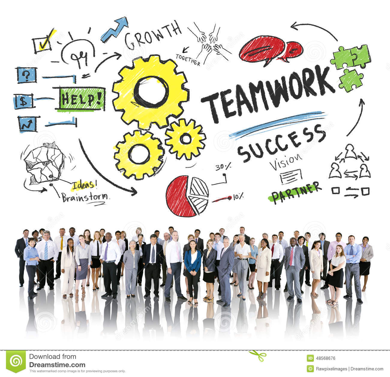 Personnes de Team Together Collaboration Corporate Business de travail d équipe