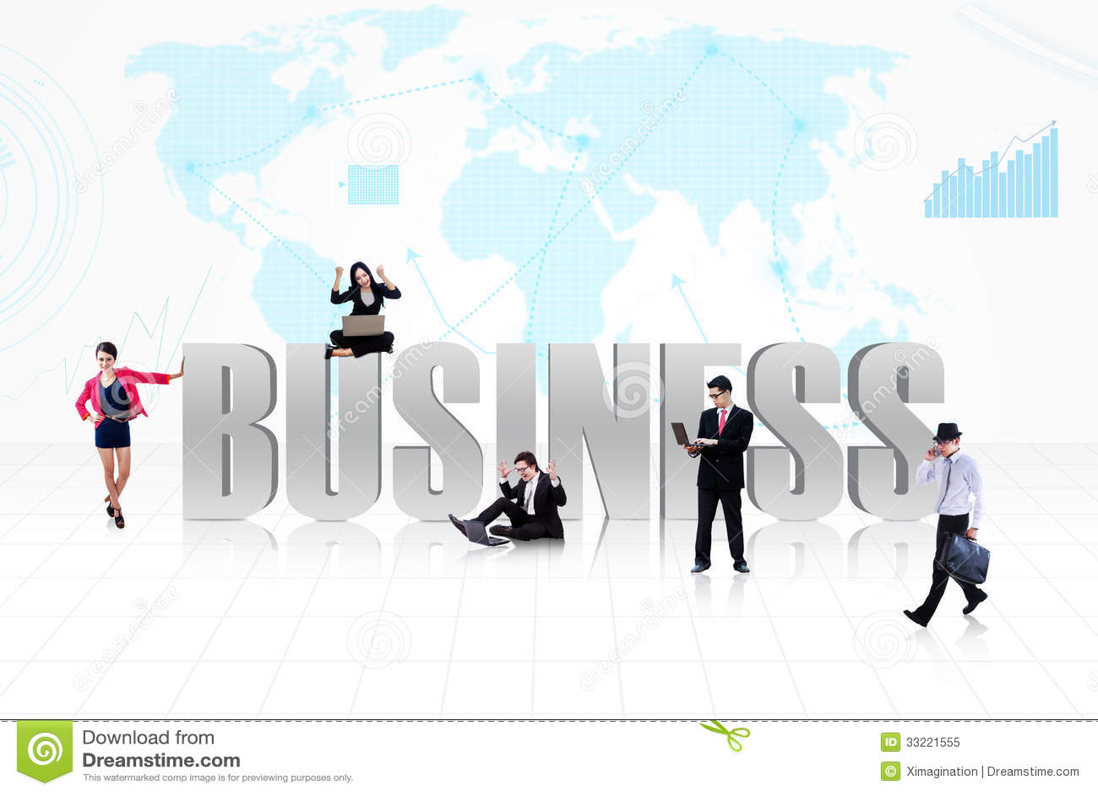 Personnes globales d affaires