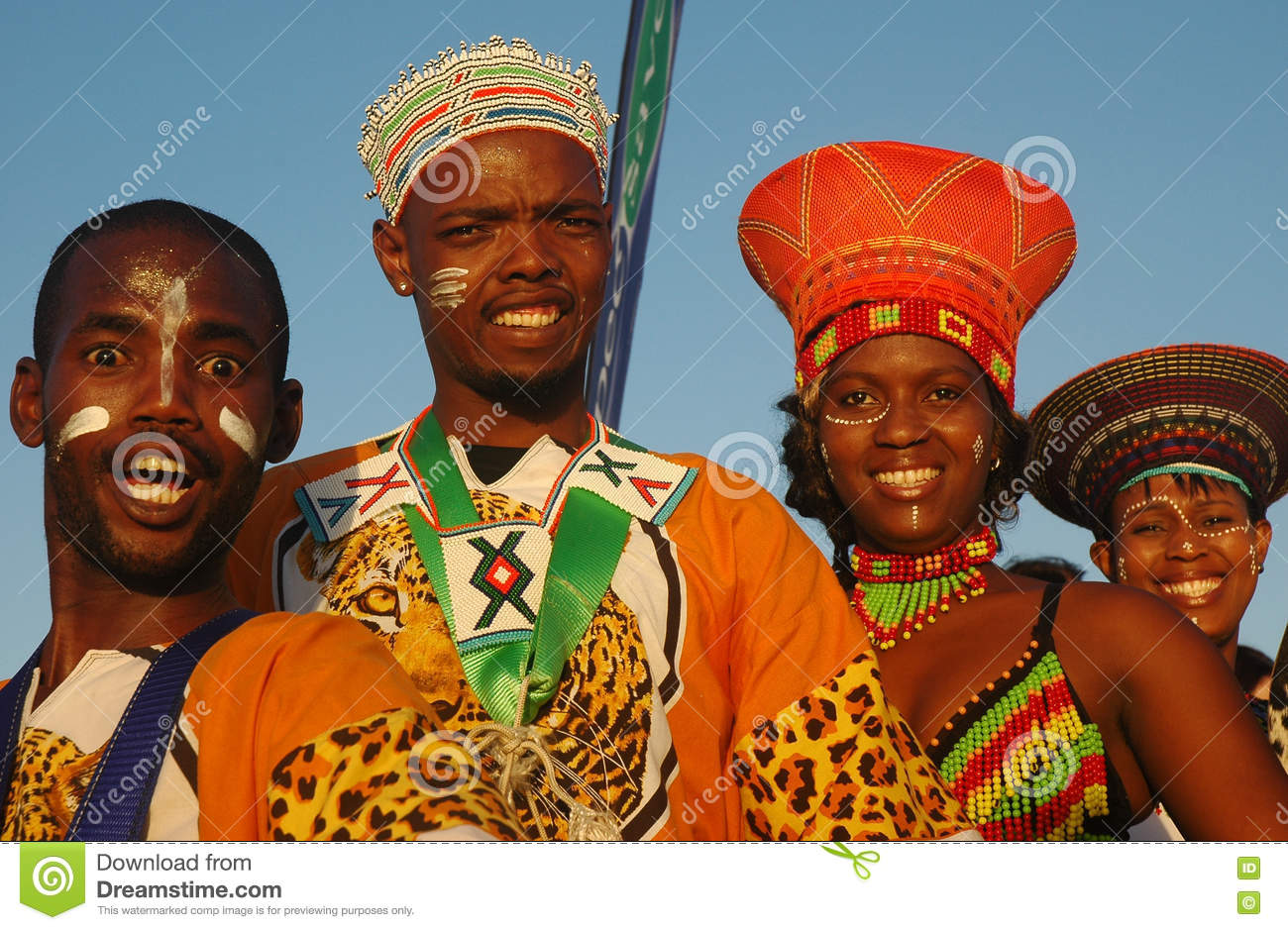Personnes traditionnelles sud-africaines