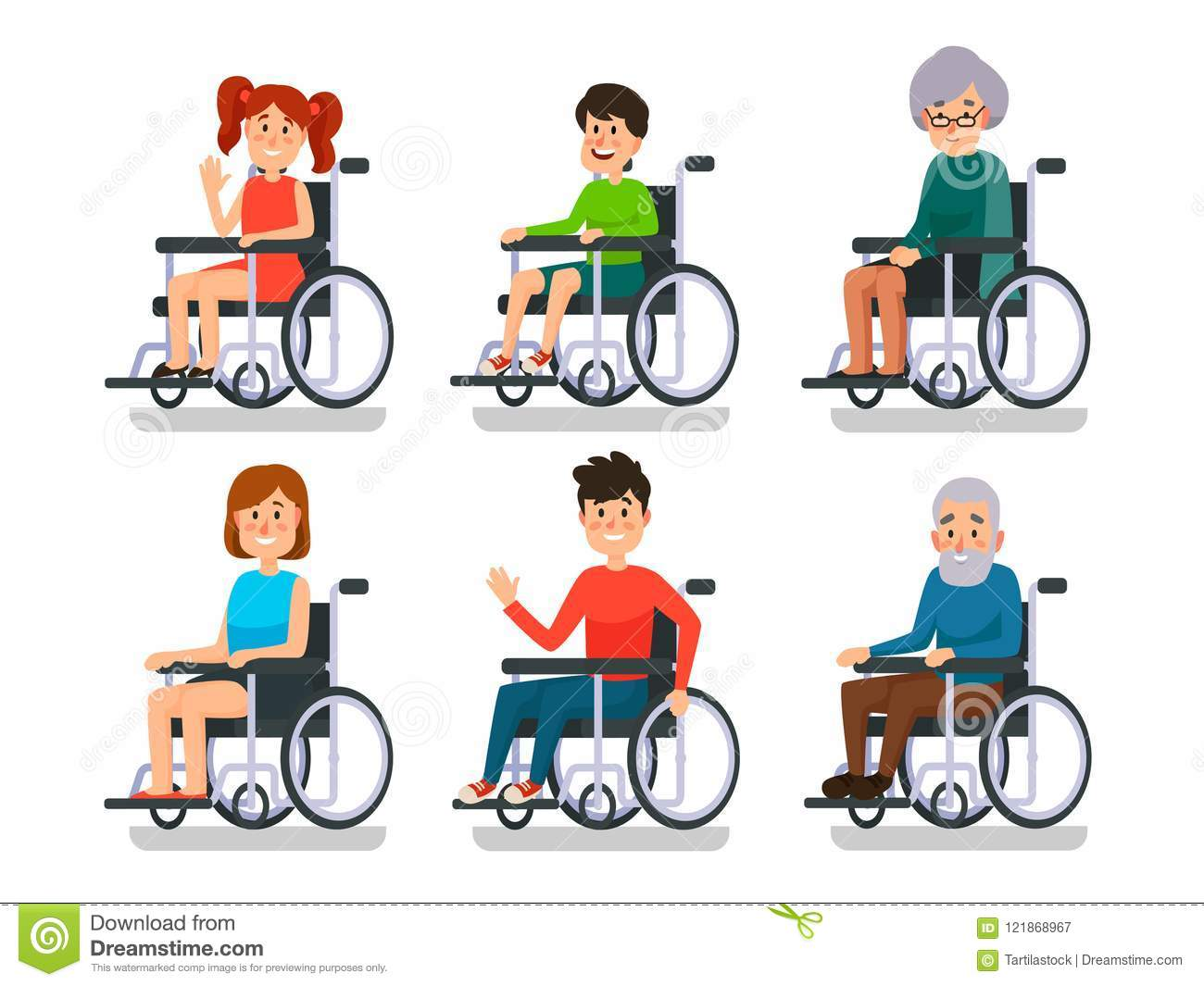 Image of: Disabled Es19 Persons In Wheelchair Hospital Patient With Disability Disabled Young Boy And Girl Man Woman Character And Happy Old People Patients Invalid Sitting In Dreamstimecom Persons In Wheelchair Hospital Patient With Disability Disabled