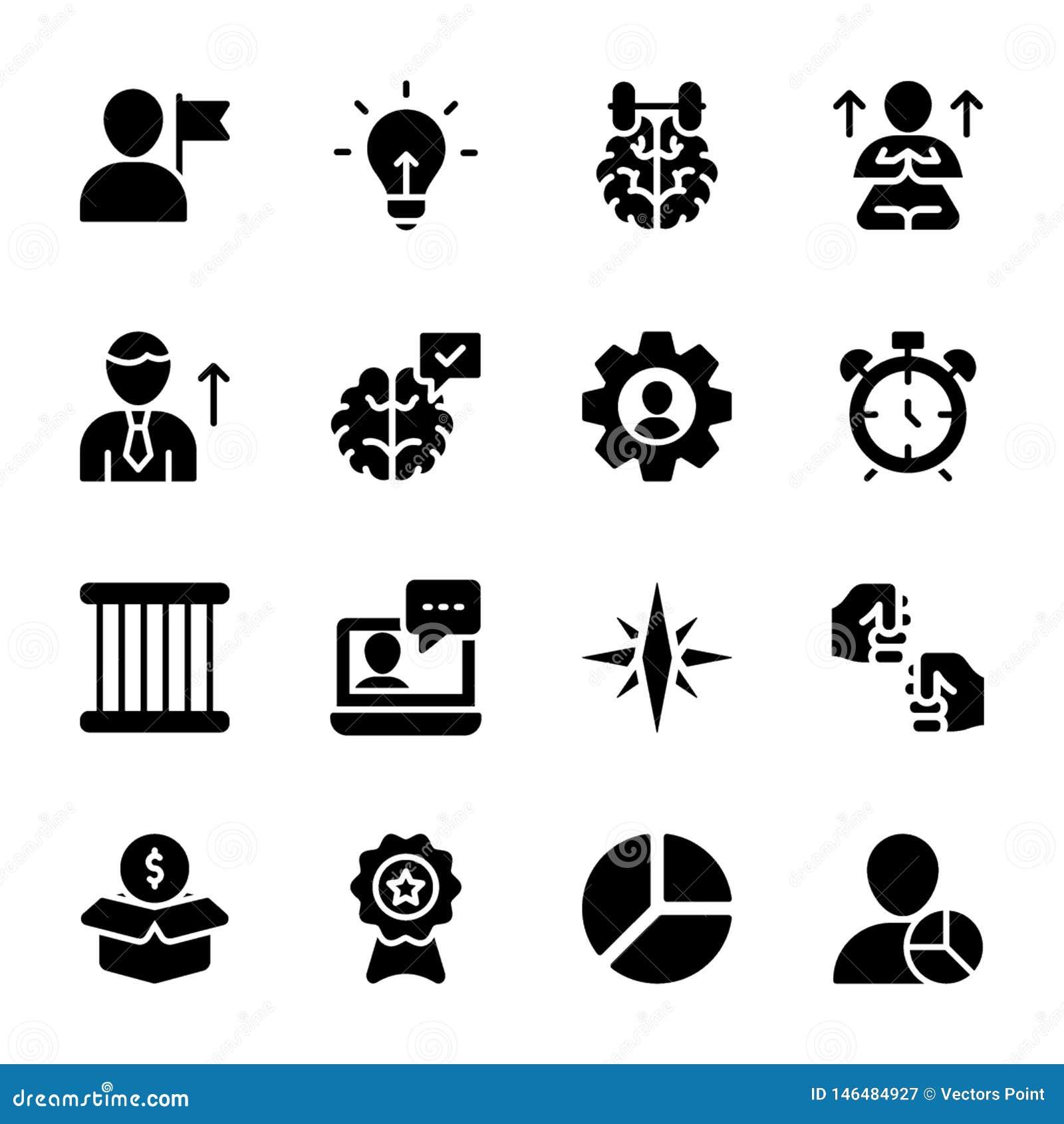 Persoonlijke Kwaliteit, Stevig de Vectorenpak van het Werknemersbeheer