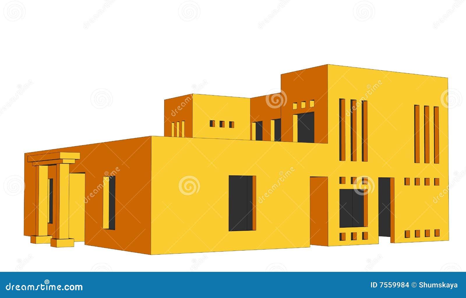 Perspectief 2 van het huis stock afbeeldingen afbeelding 7559984 - Huis trap ...