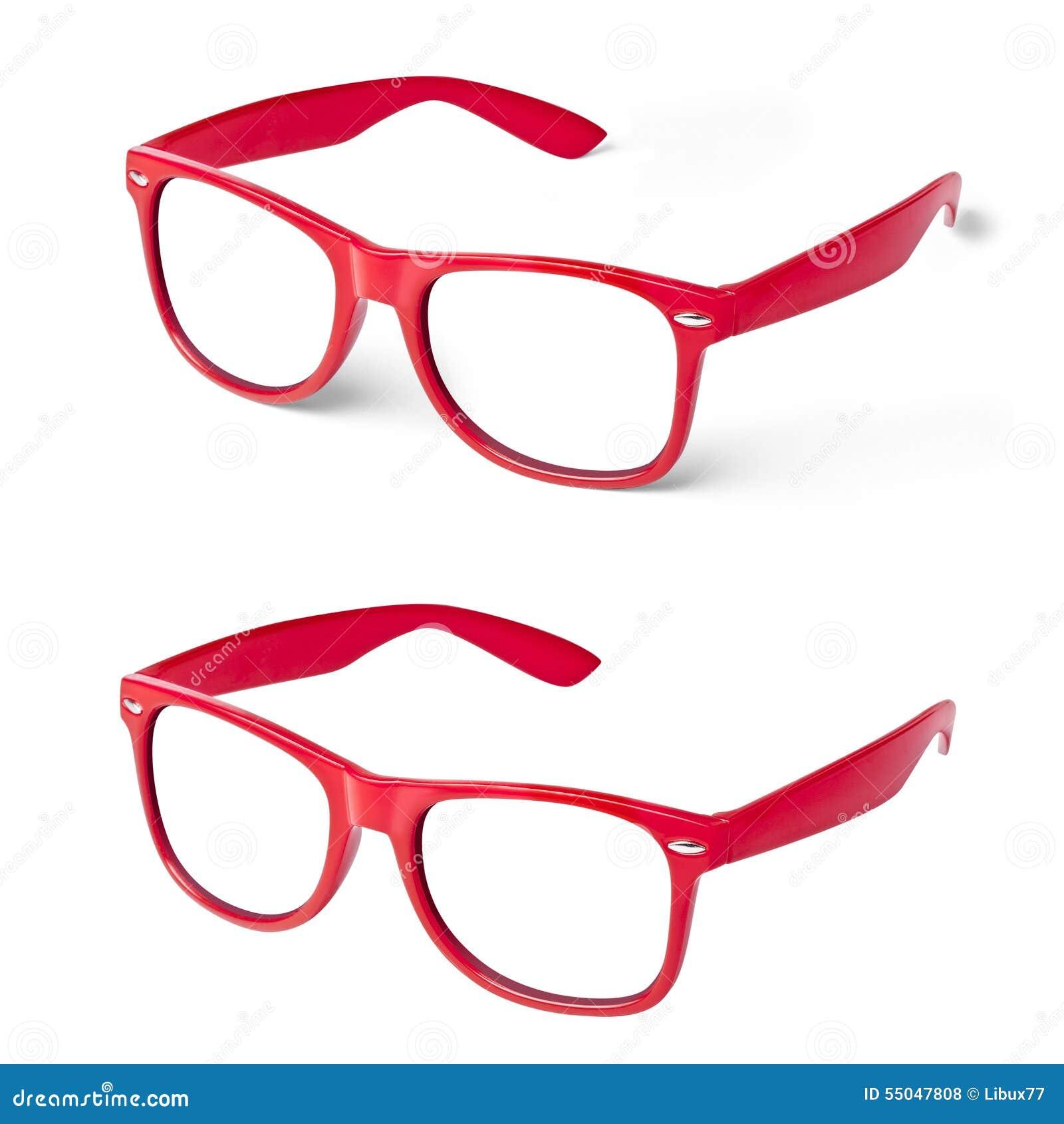 Perspectiva Del Rojo De Las Gafas De Los Vidrios Foto de archivo ...