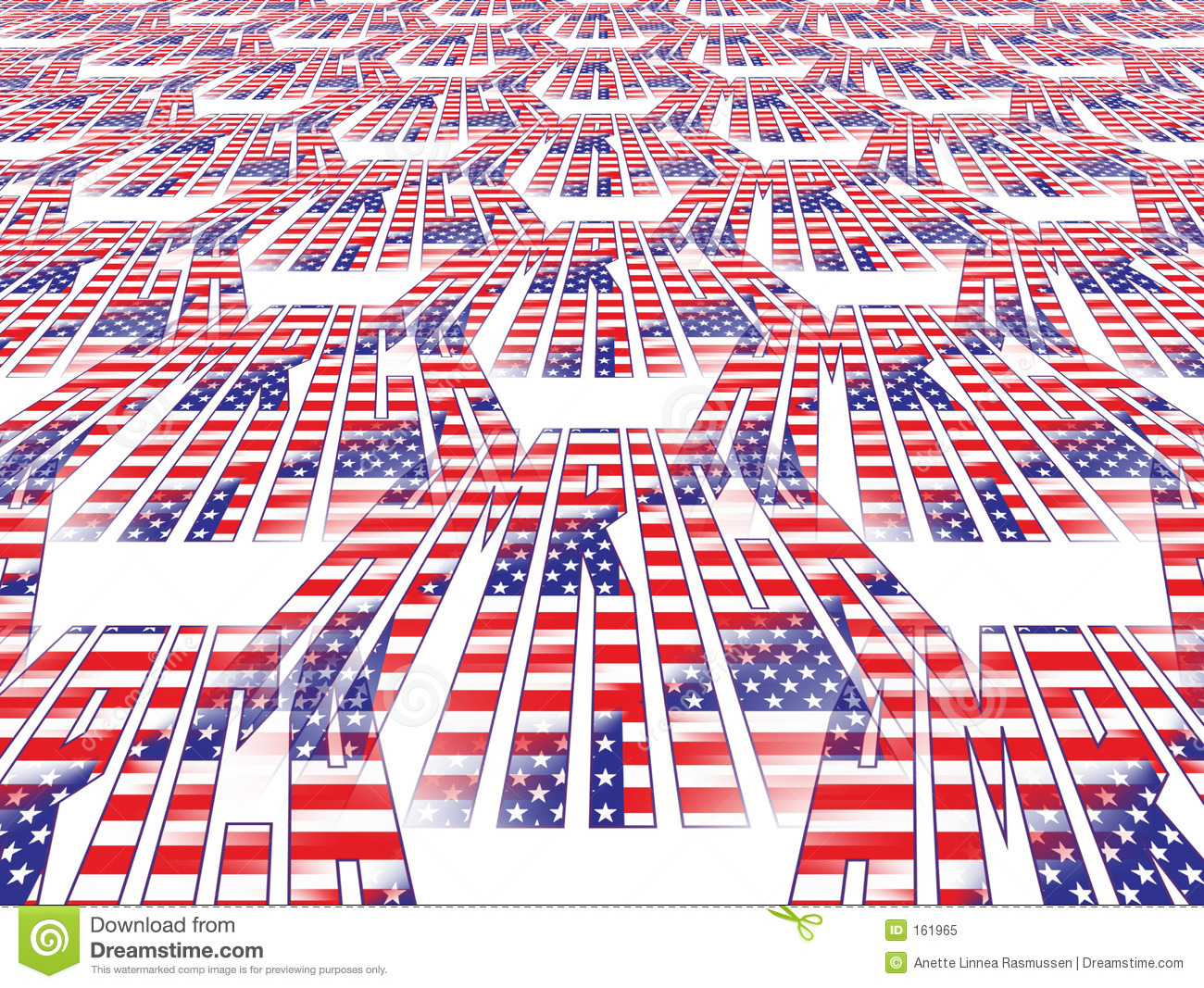 Perspective American flag
