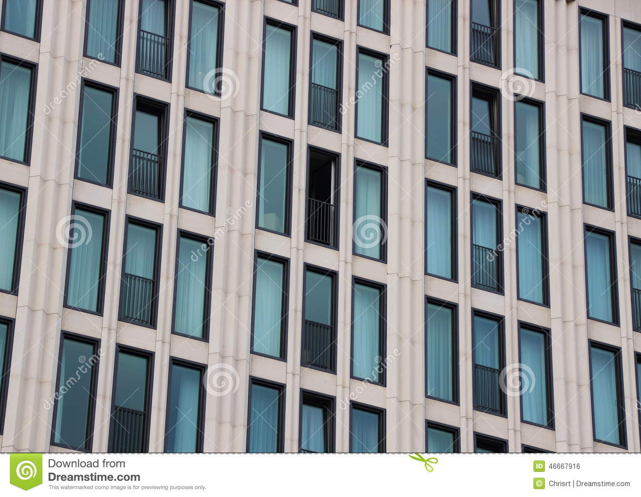 Window facade  Perspective Of Building Facade With One Open Window Stock Photo ...