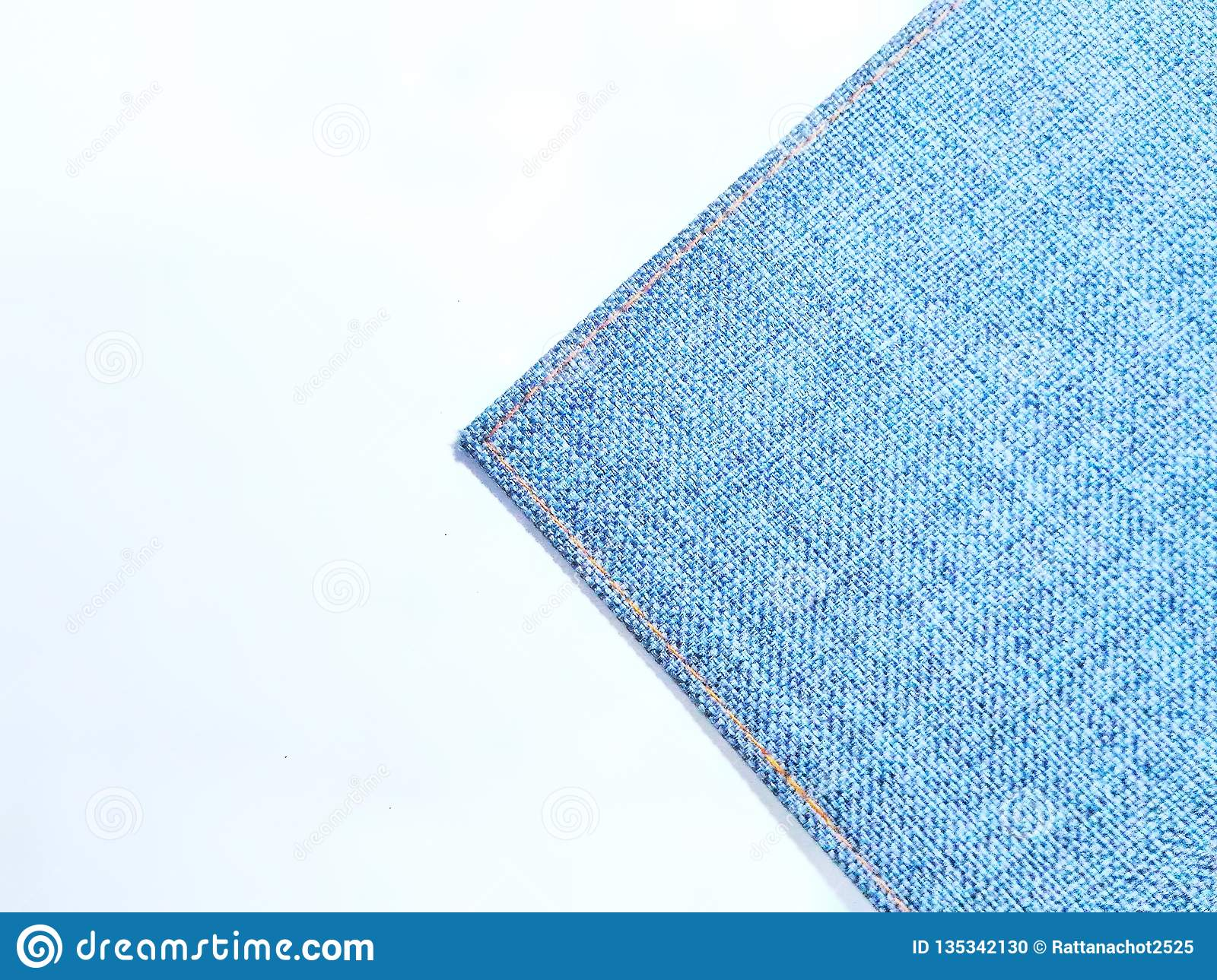 Perspective and closeup view to abstract space of empty light blue natural clean denim texture for the traditional business backgr