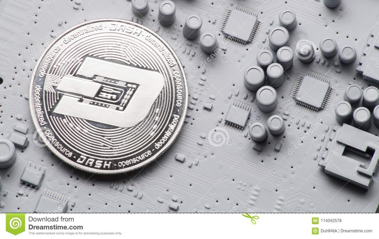 Perspective Crypto Currencies Coins On A Printed Circuit Board Of Buy Home Theater Boardcircuit Boards Orderpcb Gray Color