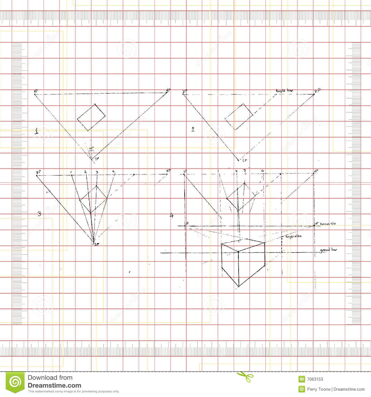 Stock Photos Perspective Drawing Image7063153 on 2d house drawing