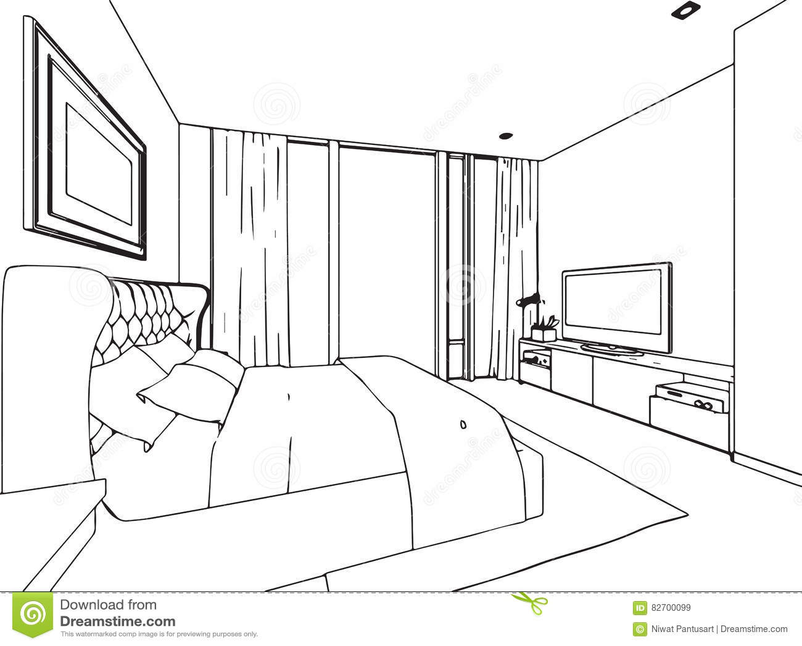 Canape Moderne Dessin Perspective : Dessin perspective maison ventana