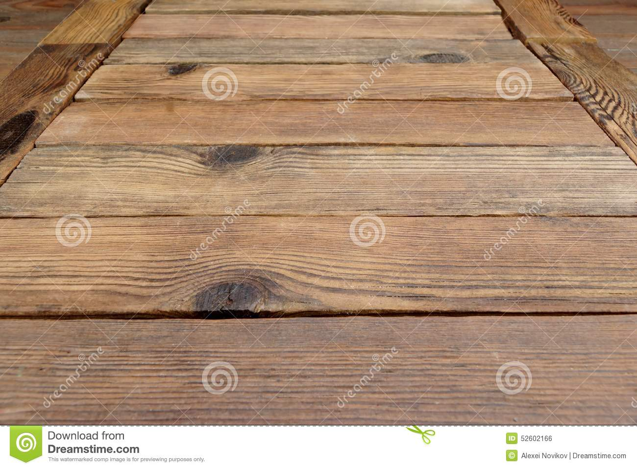 Rough Wood Planks ~ Perspective of rustic wood planks or table floor stock