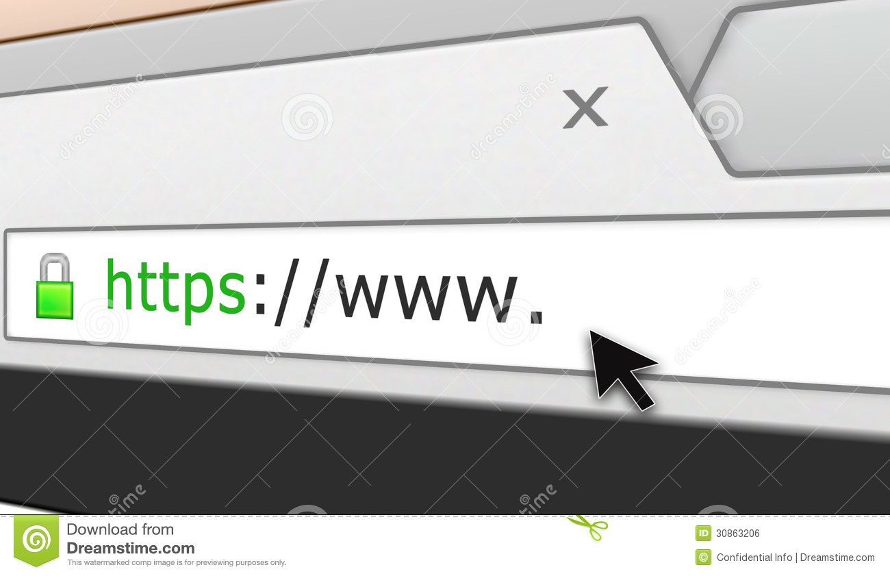 perspective secure web site browser address bar royalty free stock image
