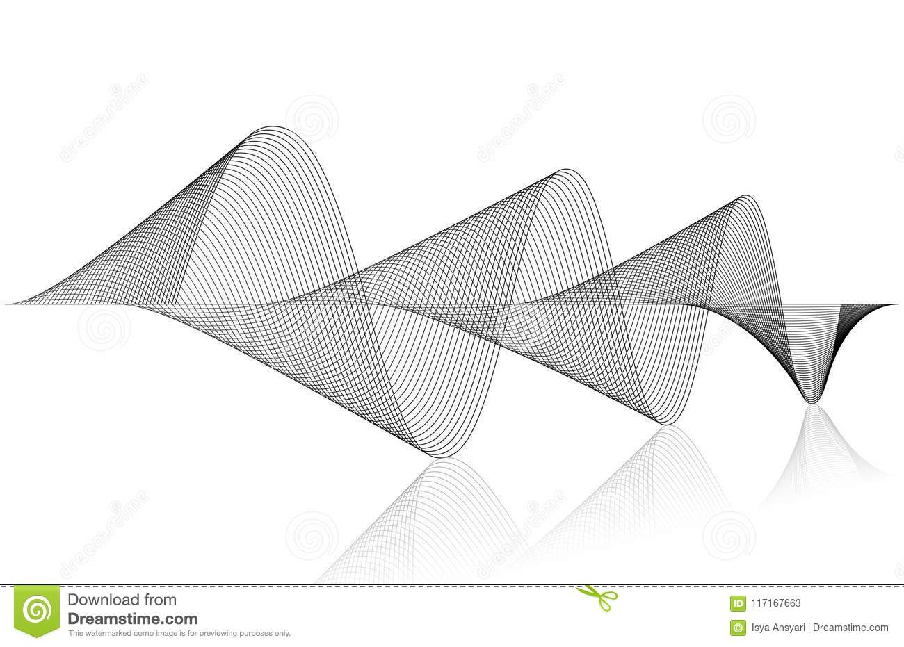 Sound Waves stock vector  Illustration of clean, file