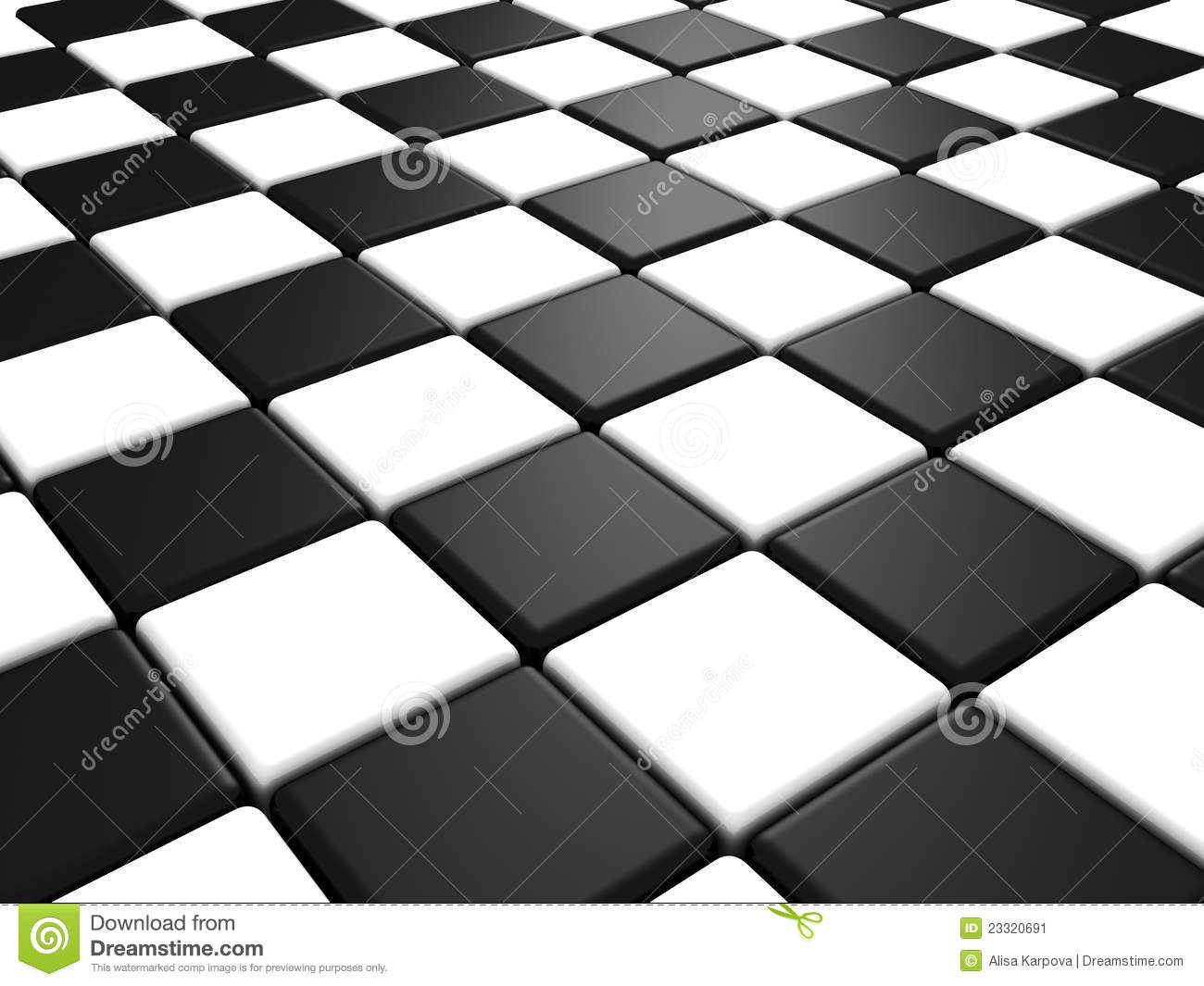 Perspective View Of A Chess Or Checker Board Stock Image