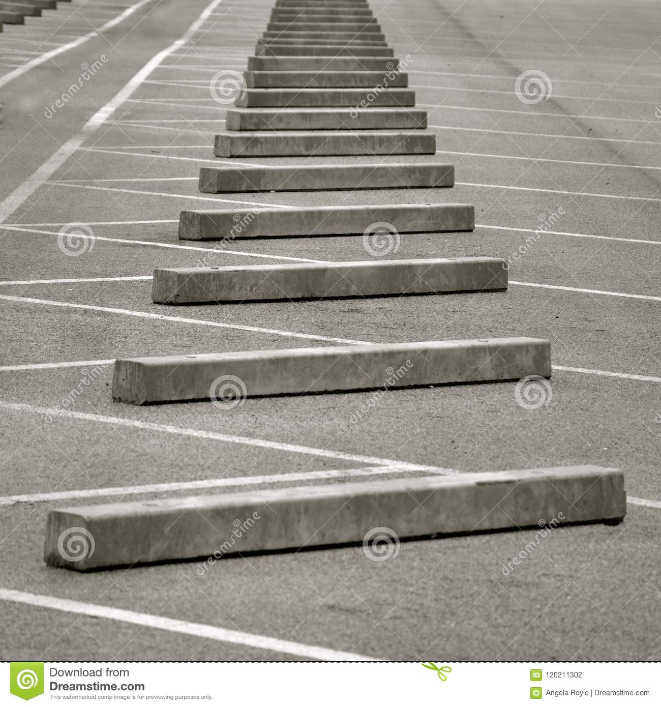 Perspective view of concrete kerb stones