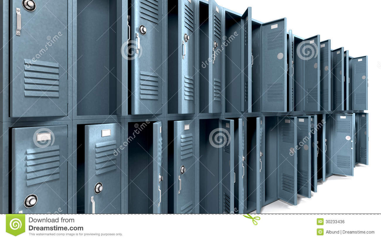 Open School Locker Clip Art school lockers stock illustrations ...