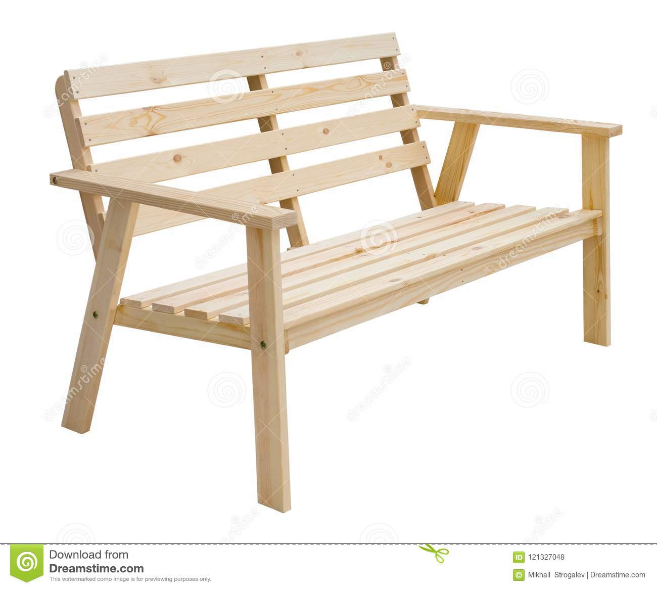 Superb Perspective View Of A Wooden Bench Isolated Stock Photo Pdpeps Interior Chair Design Pdpepsorg