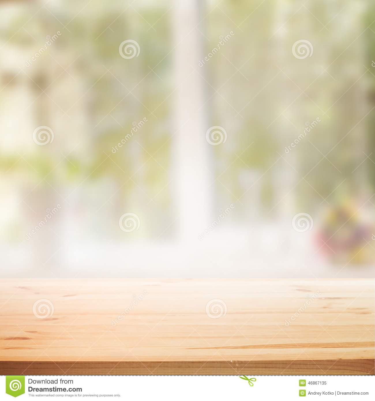 Perspective Wooden Table Background Stock Photo Image