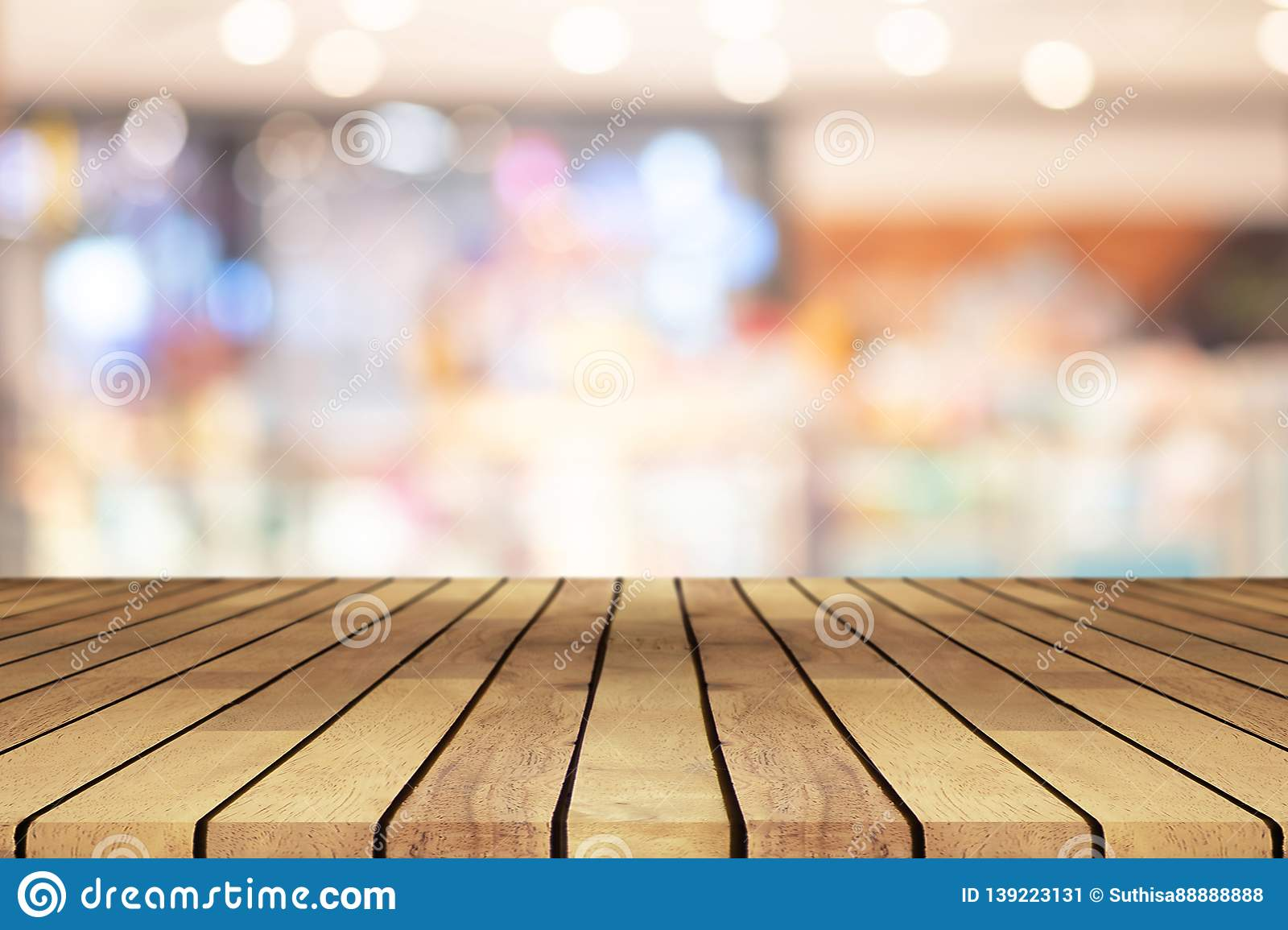 Perspective Wooden Table On Top Over Blur Coffee Shop Background Can Be Used Mock Up For Montage Products Display Or Design Stock Image Image Of Backdrop Food 139223131
