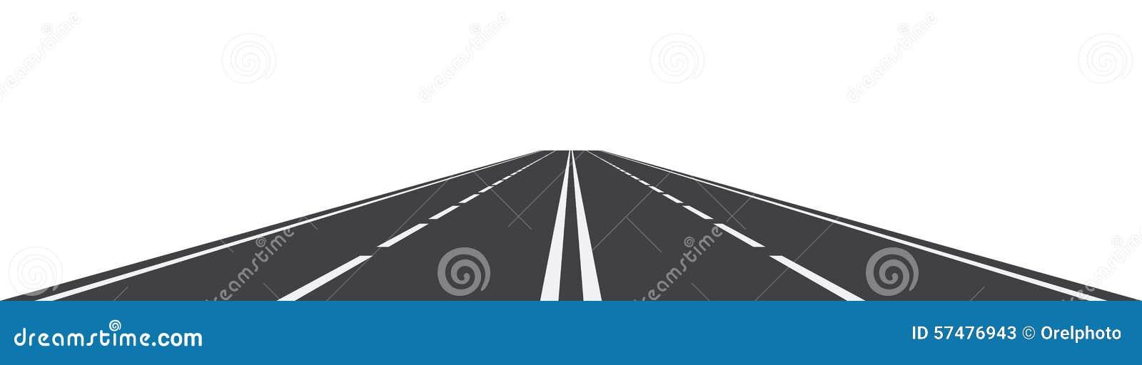 Perspektiv av den krökta vägen