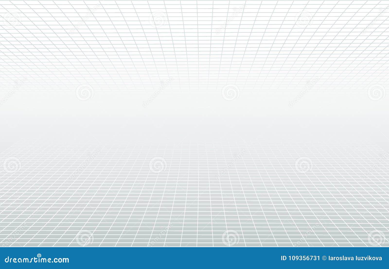 Perspektivrastervit och grå eterisk bakgrund Minsta begrepp för vektorhorisontdesign Dekorativ rengöringsdukorientering, affisch,