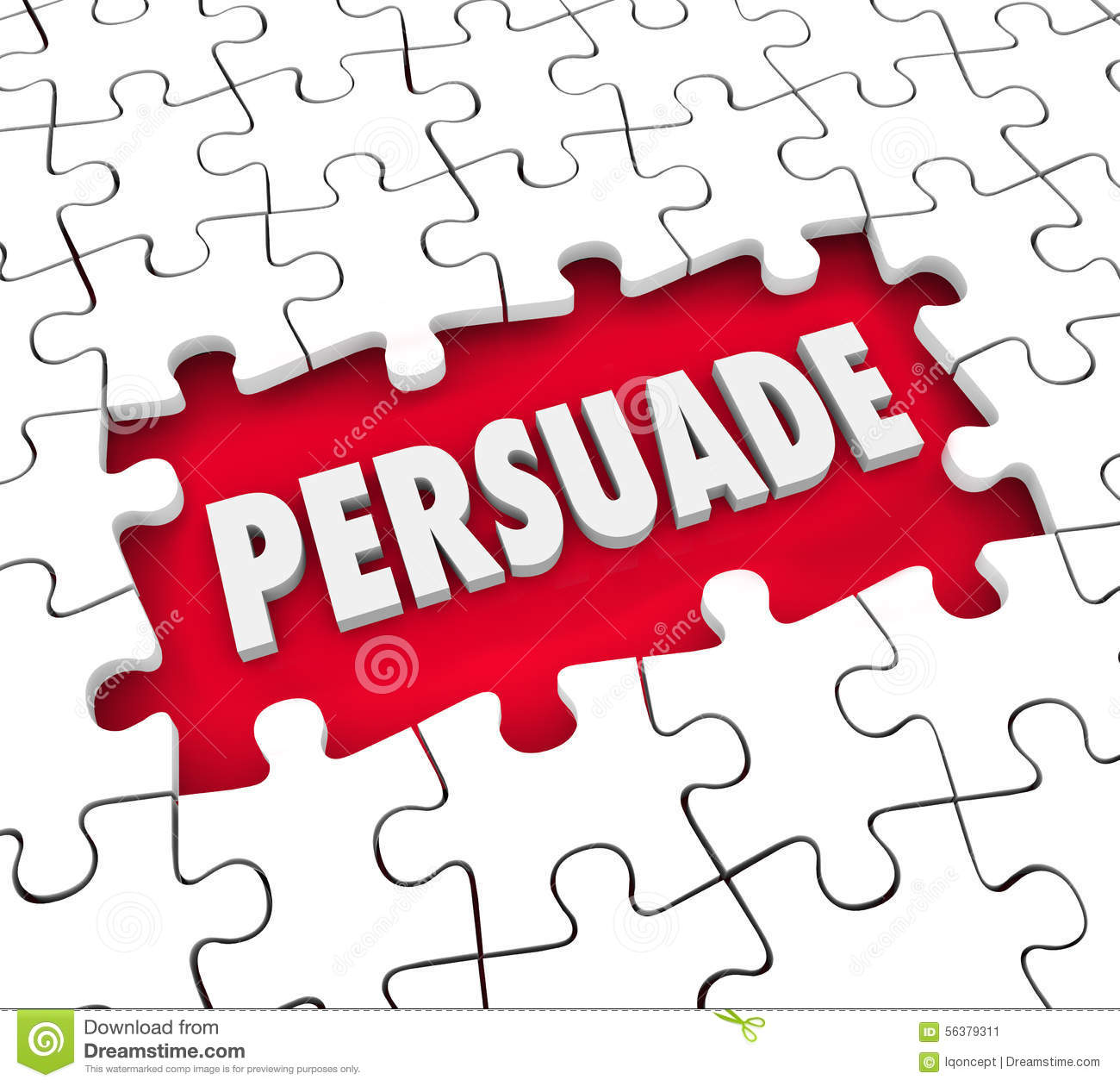 Persuade Convince Influence Decision Puzzle Pieces Hole ...