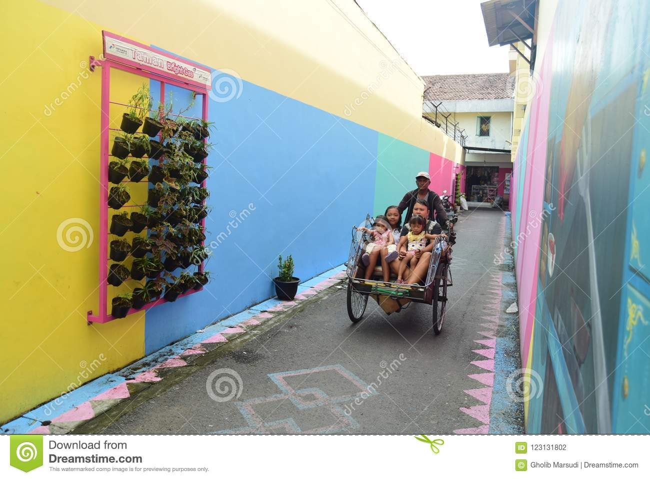 Bright Gas Village in the city of Semarang