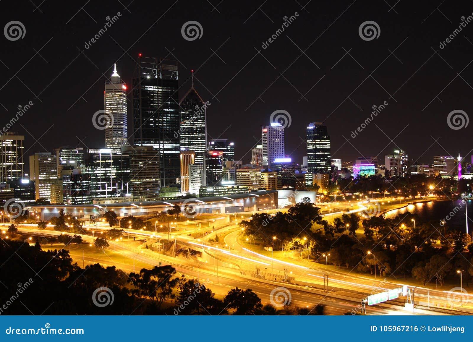 Perth bij Nacht