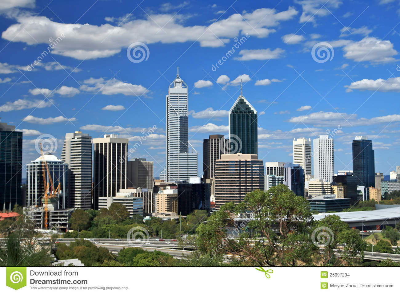 Perth Skyline With Swan River View From King 39 S Park Western Australia