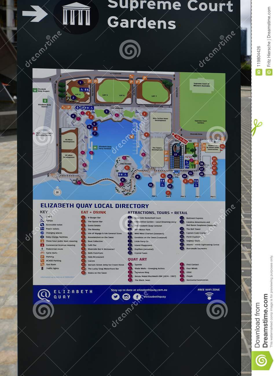 Direction Map Australia.Australia Wa Perth Direction Board Editorial Photo Image Of