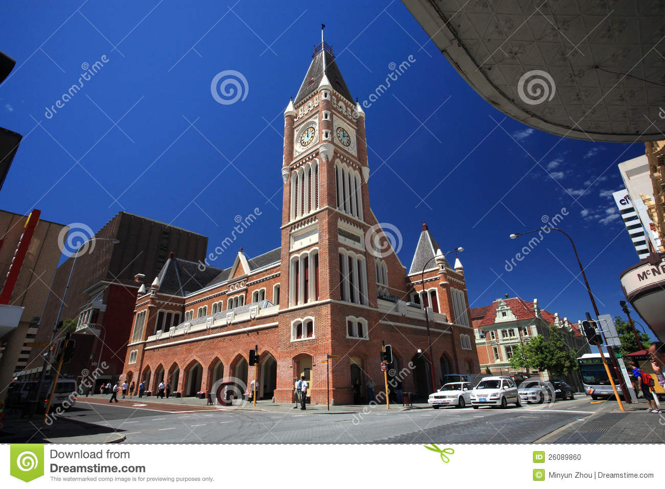 perth town hall clock tower royalty free stock photography. Black Bedroom Furniture Sets. Home Design Ideas