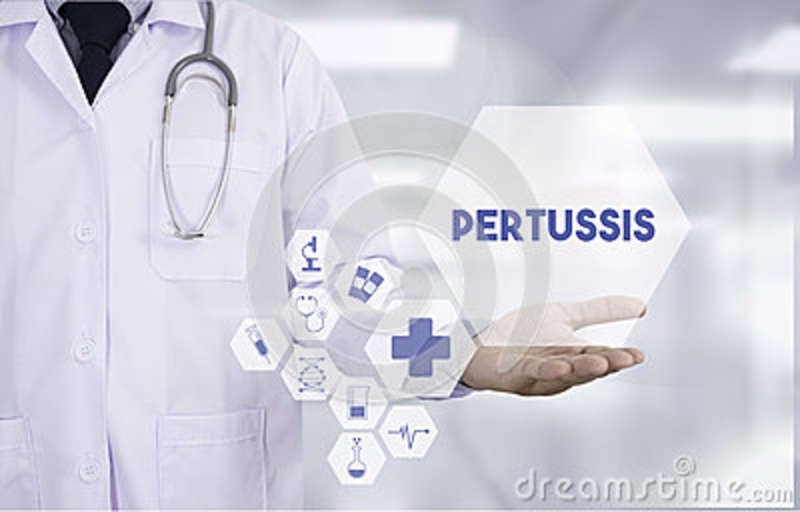 Pertussis Professional doctor use computer and medical equipment