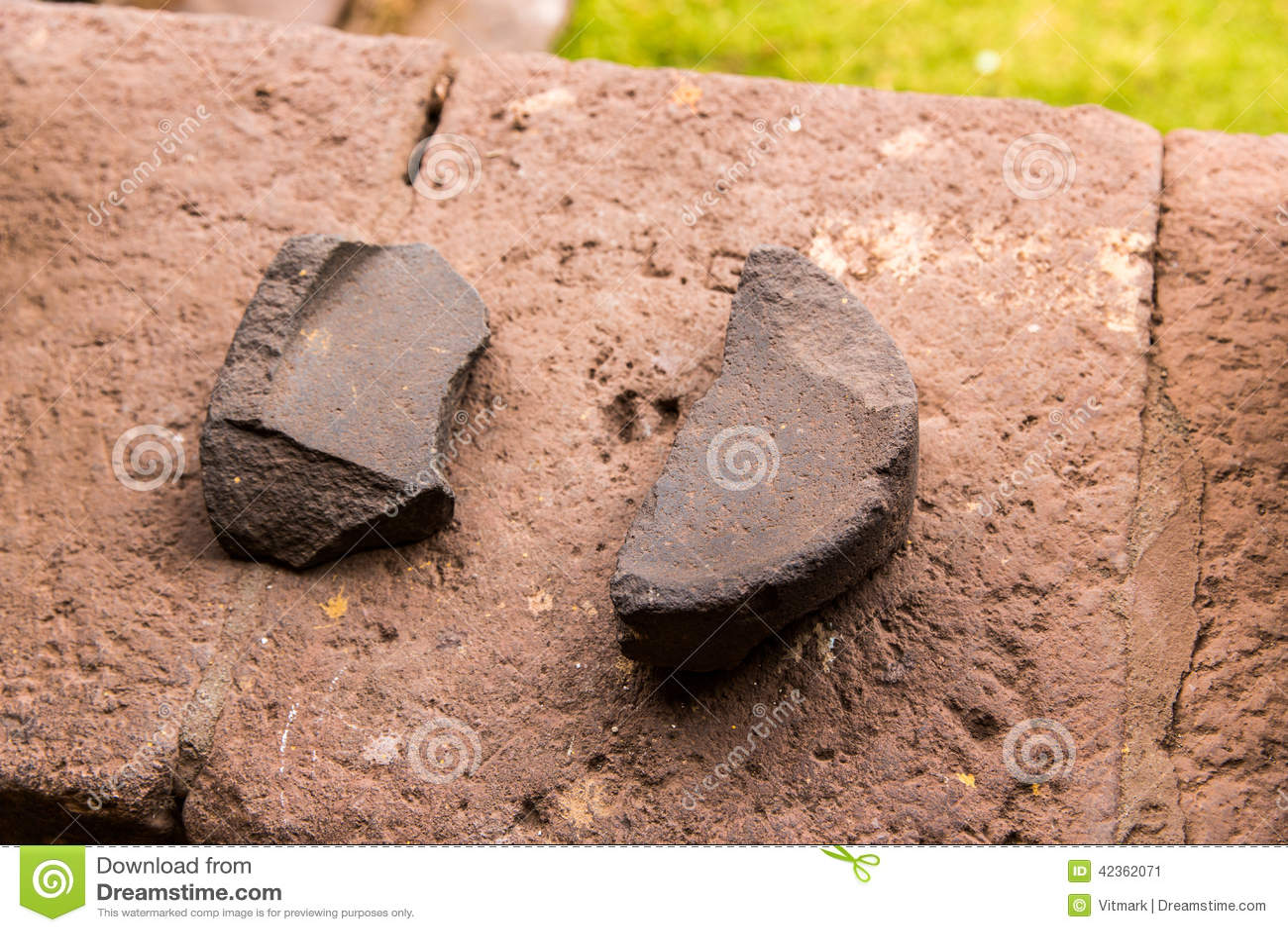 Peru ancient aztec and maya stone sculptures stock