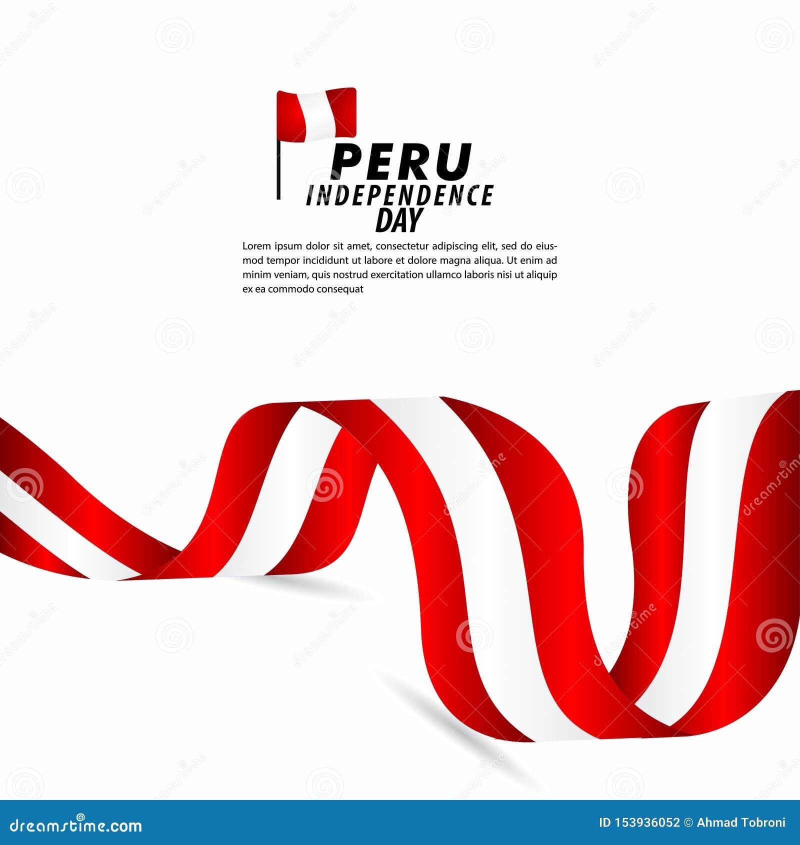 Peru Independence Day Celebration Vector Template Design Illustration Stock Vector Illustration Of Happy Peru 153936052