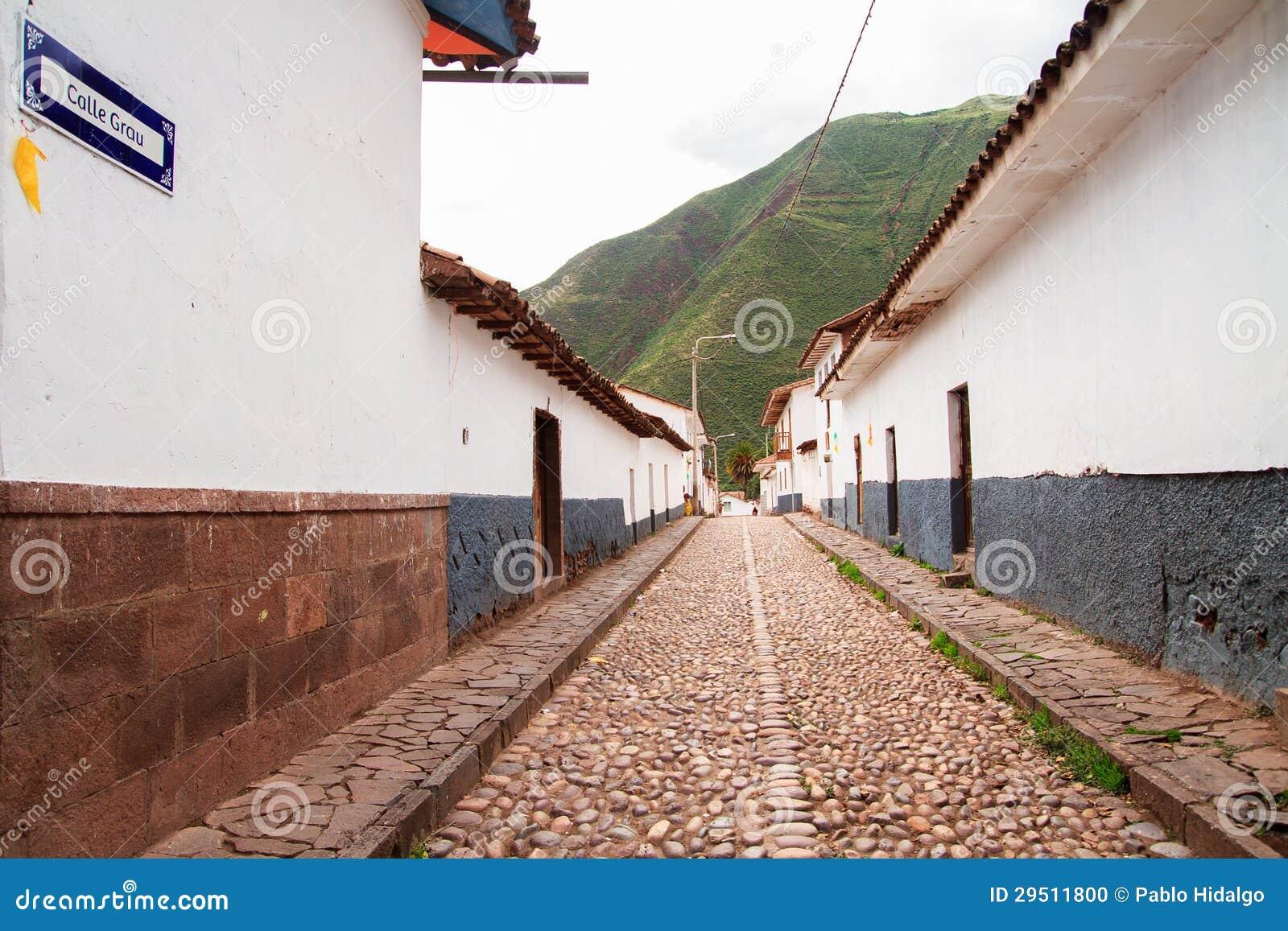 Peru, Pisac (Pisaq) in de Peruviaanse Andes.