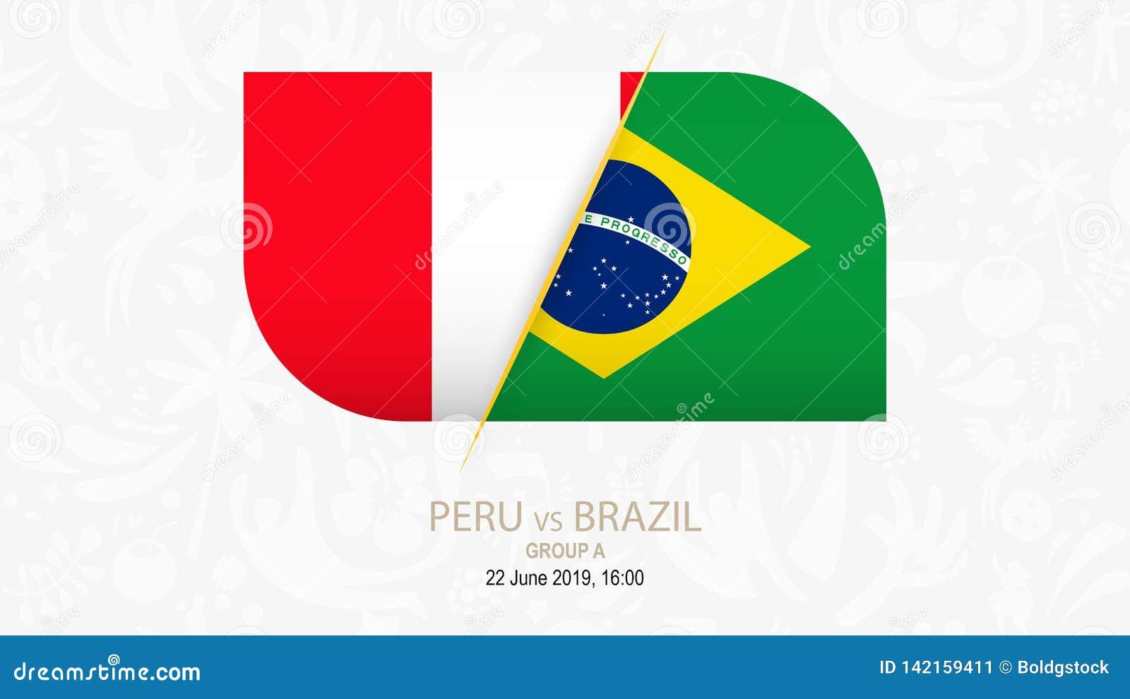 Peru vs Brasilien, fotbollkonkurrensgrupp A