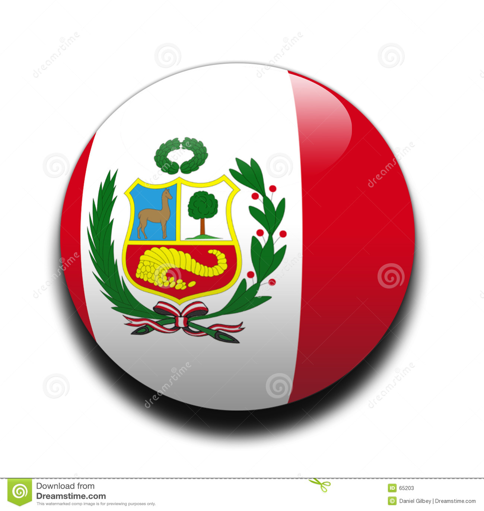 Peruanische Markierungsfahne
