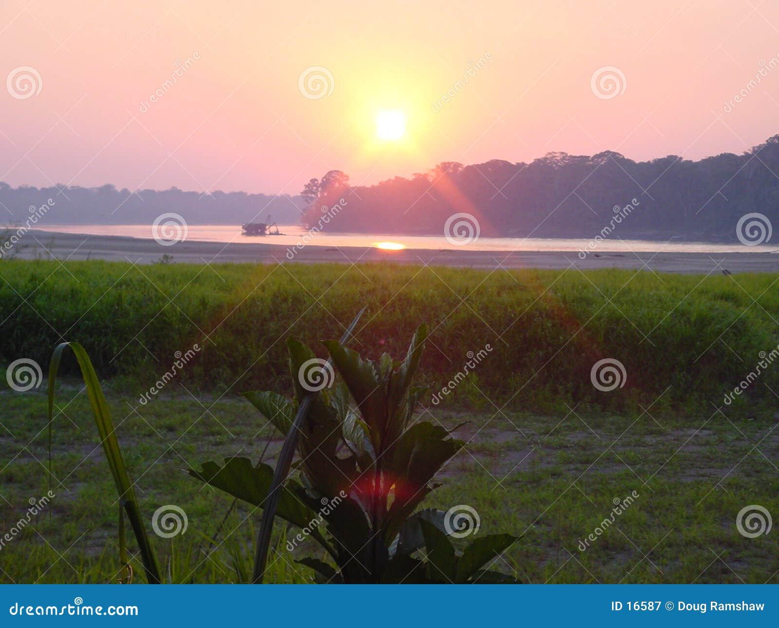 Peruanischer Sonnenuntergang