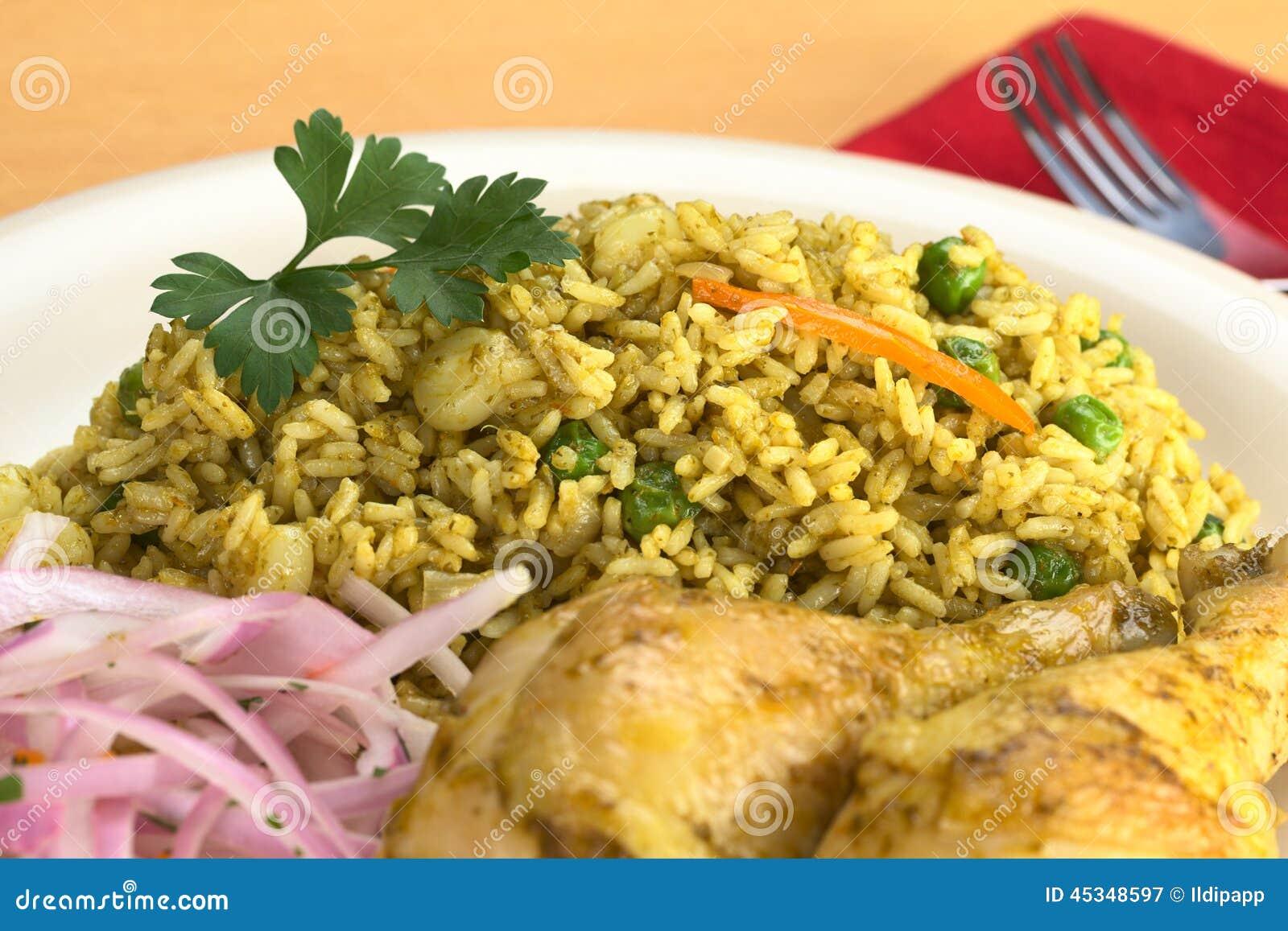 Peruvian Arroz Con Pollo (Rice With Chicken) Stock Photo - Image ...