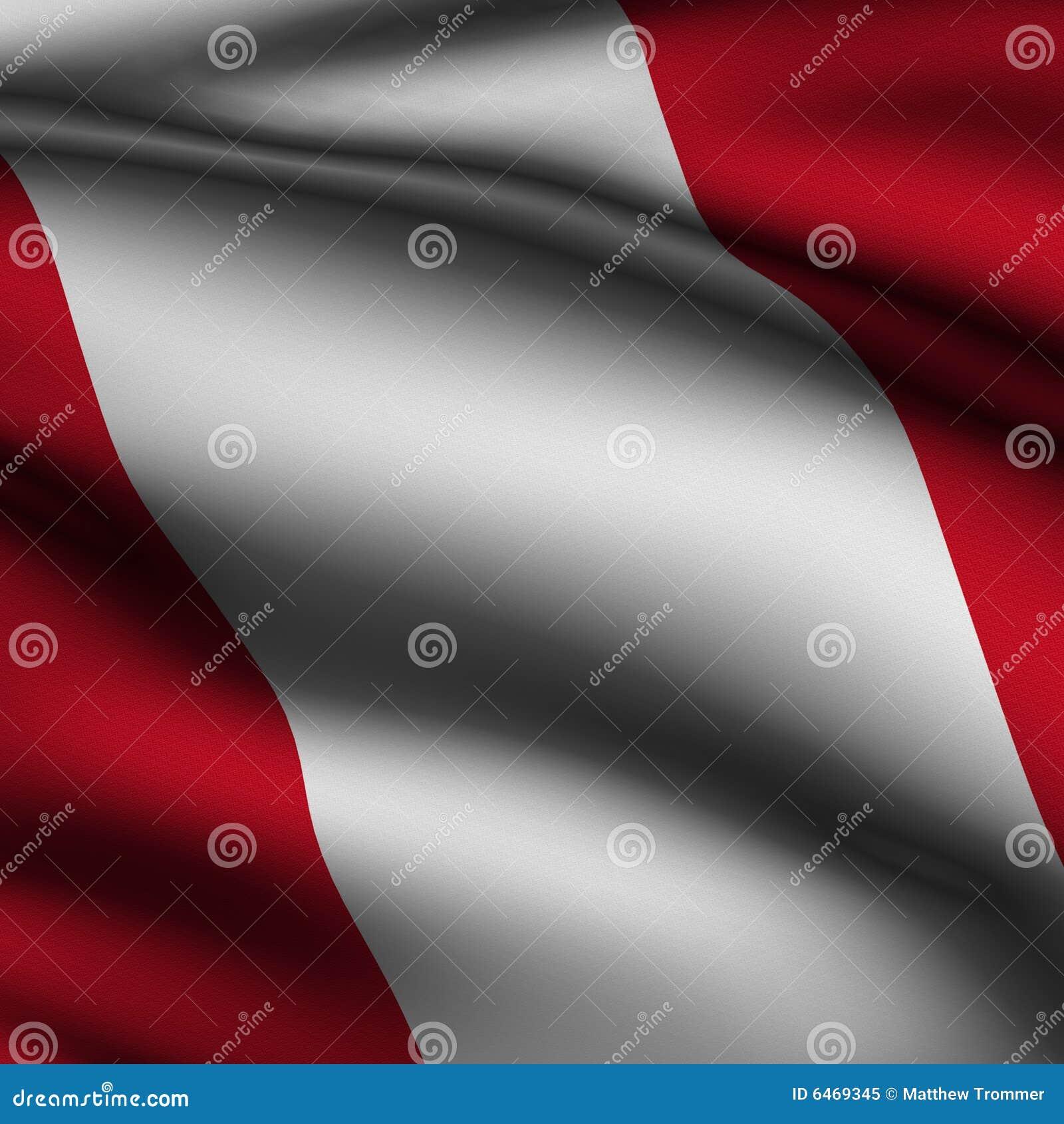 Peruvian bandery wytopione obciosują