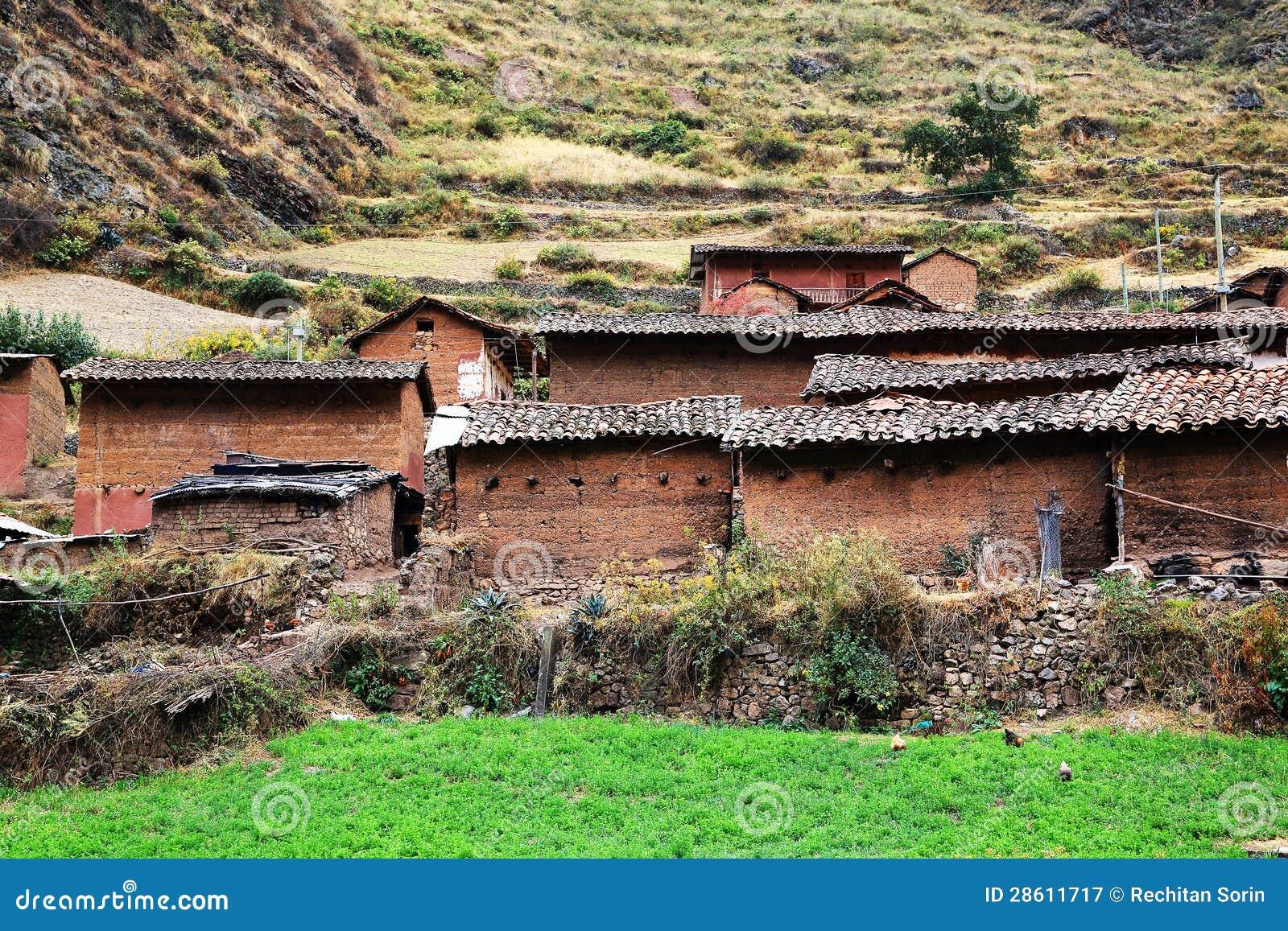 Peruwiańska górska wioska