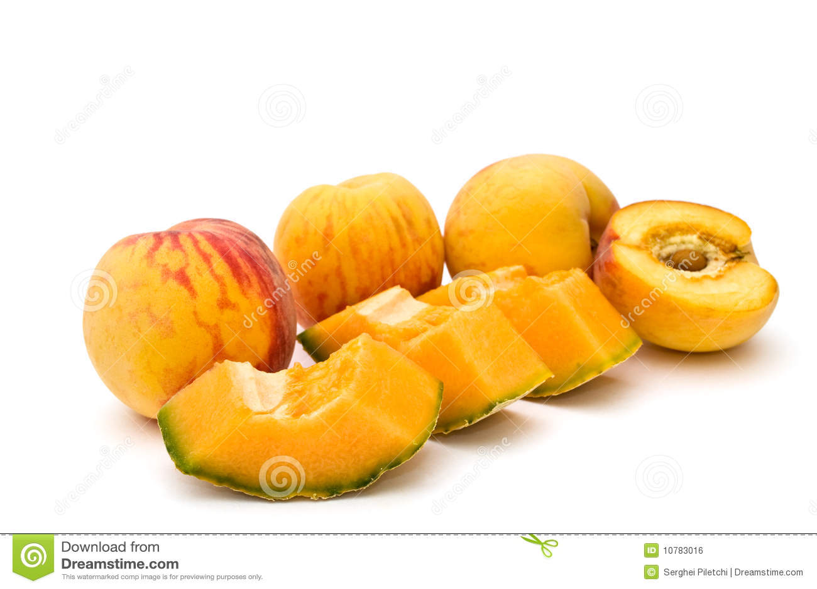Perziken en kantaloep.