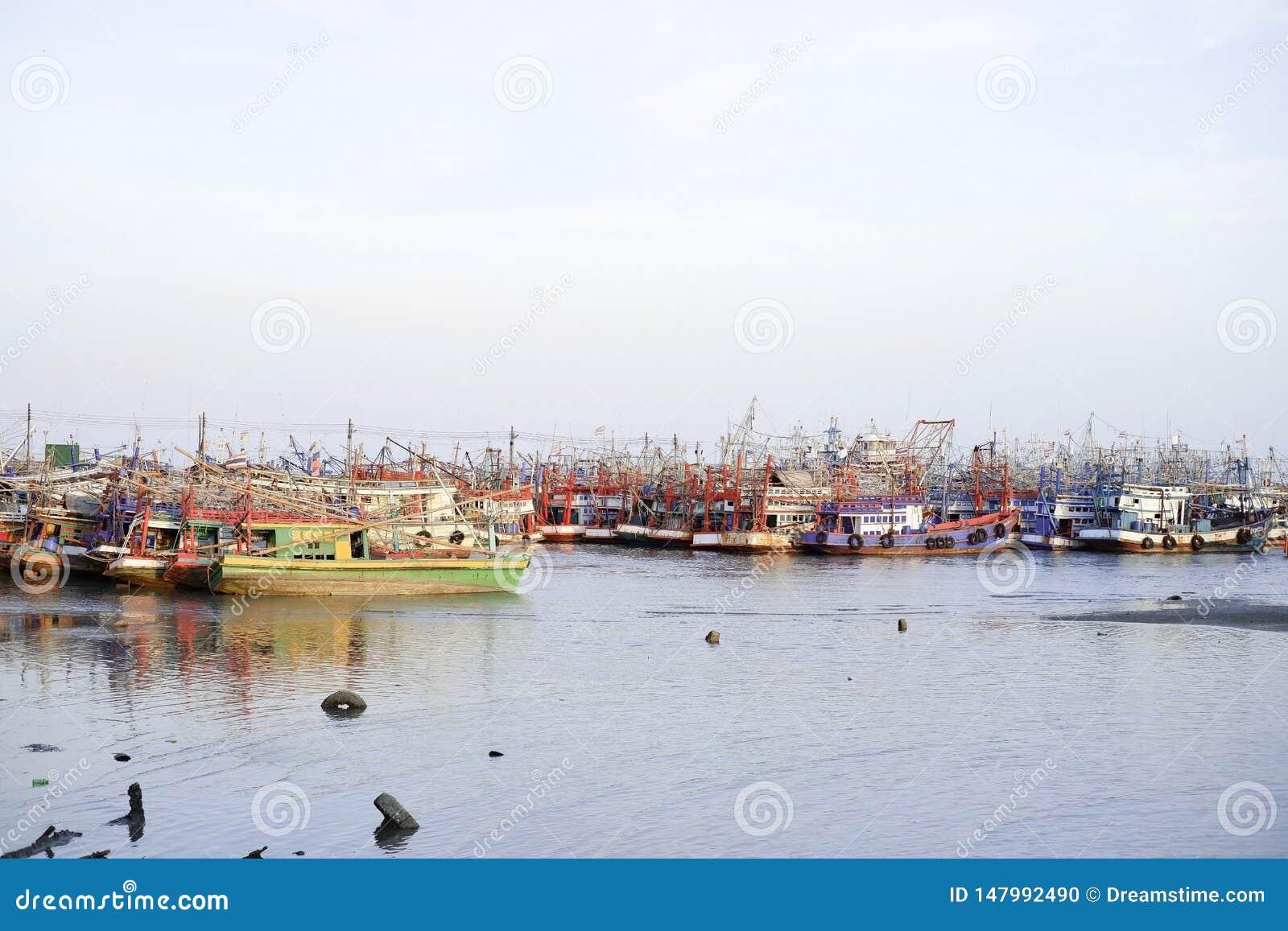 Pesca, barco, anúncio publicitário, peixe, céu, água