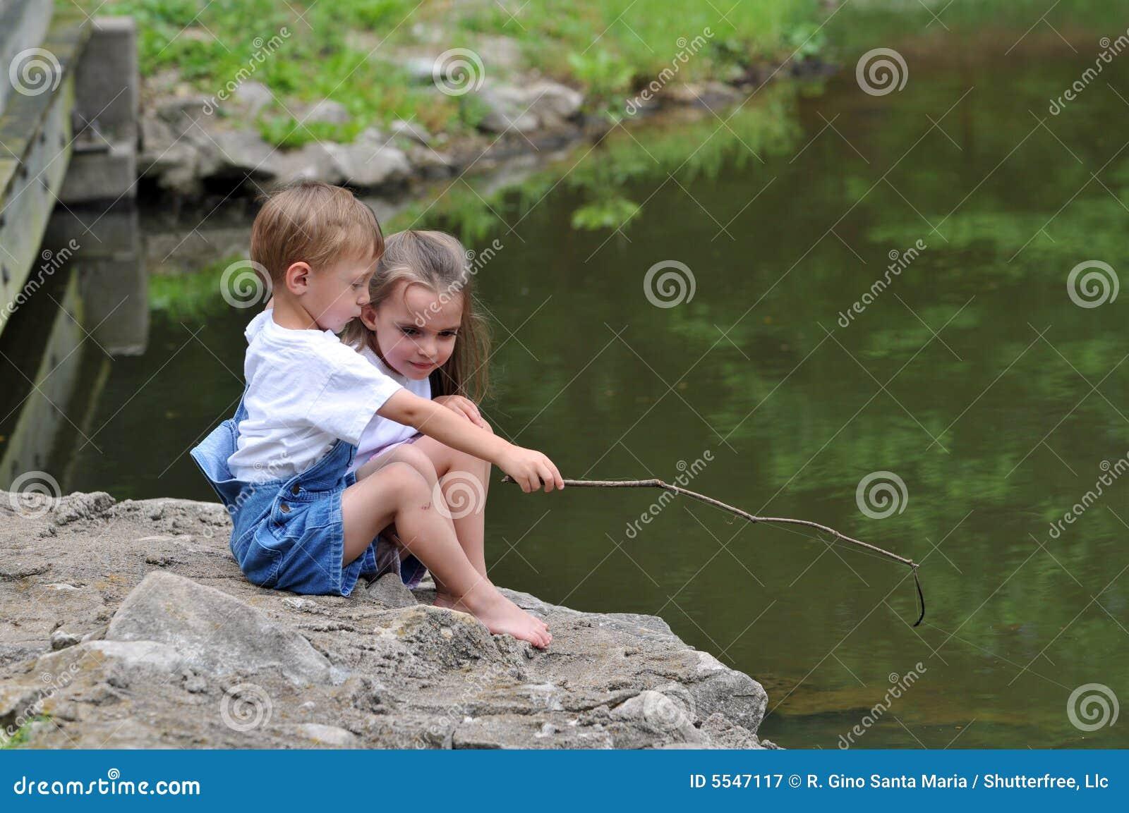 Pesca das crianças