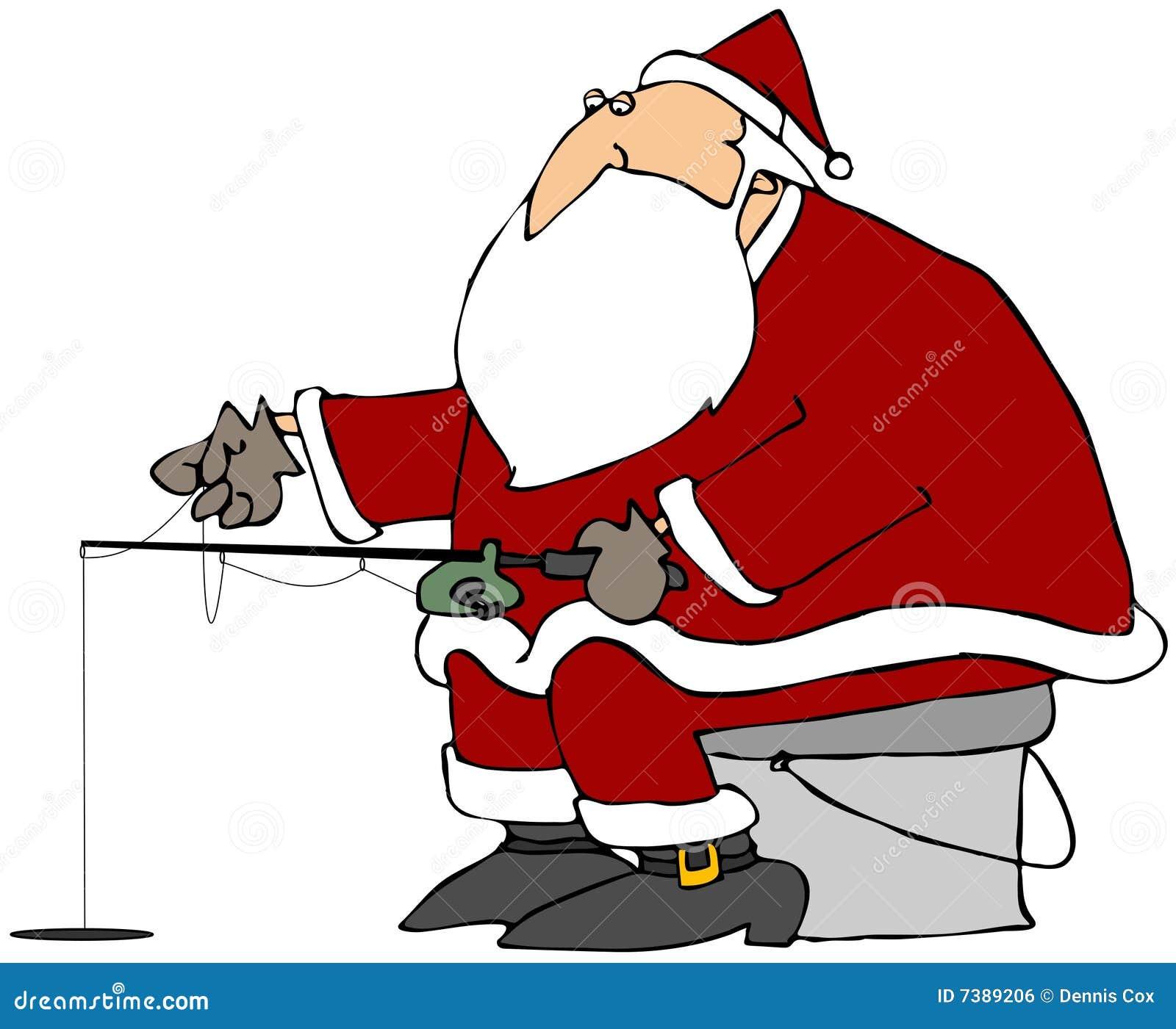 Pesca del hielo de Santa