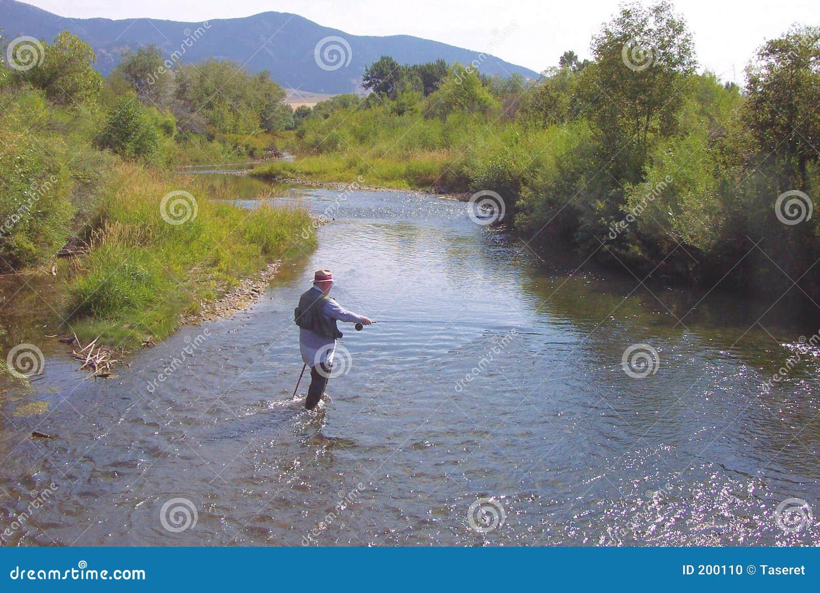 Pesca di mosca sulla gallatina orientale