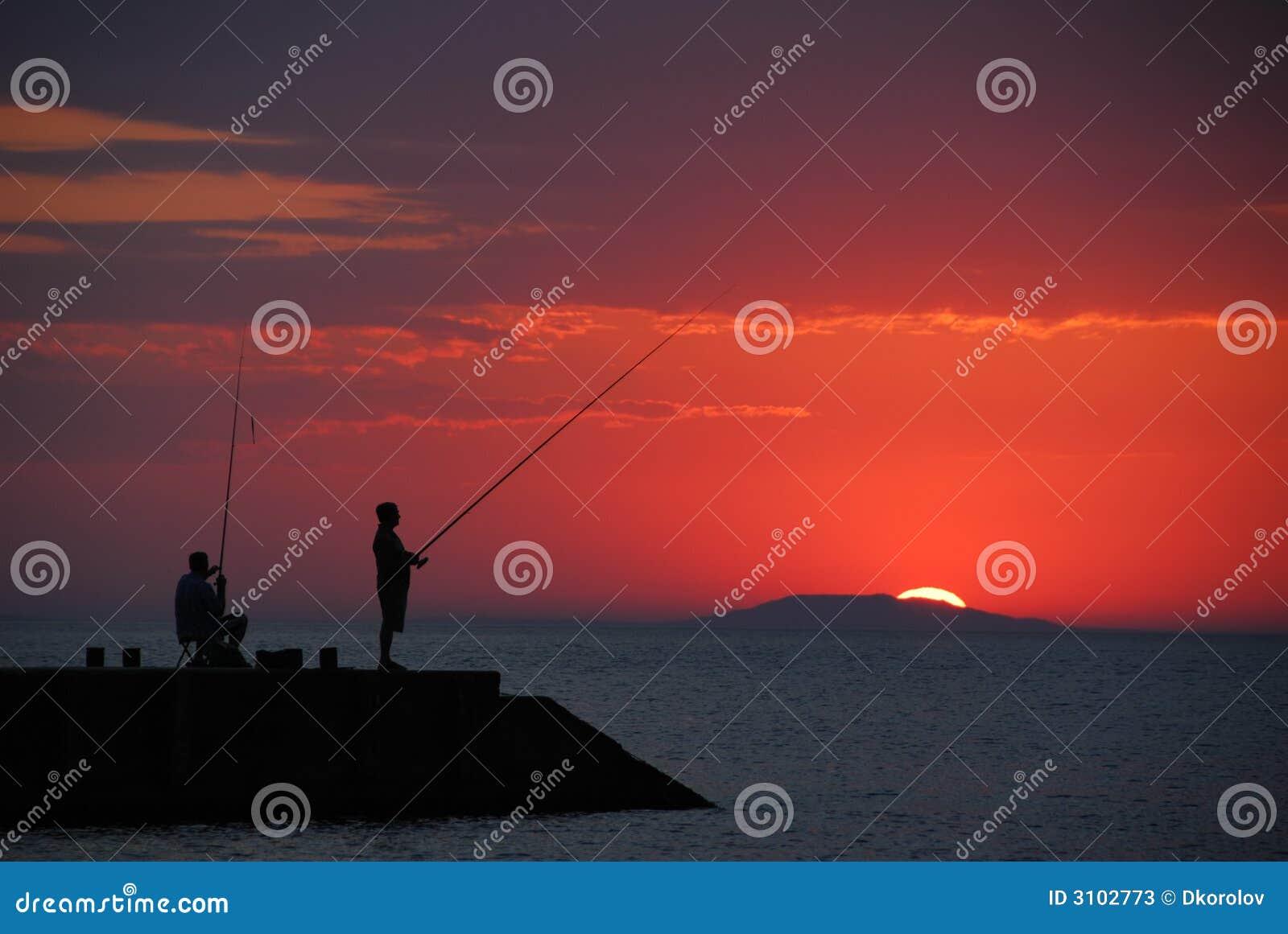 Pesca do nascer do sol