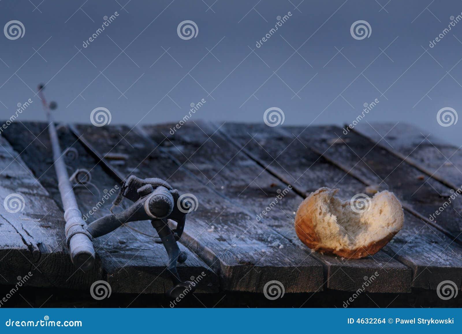 Pesca-haste e pão