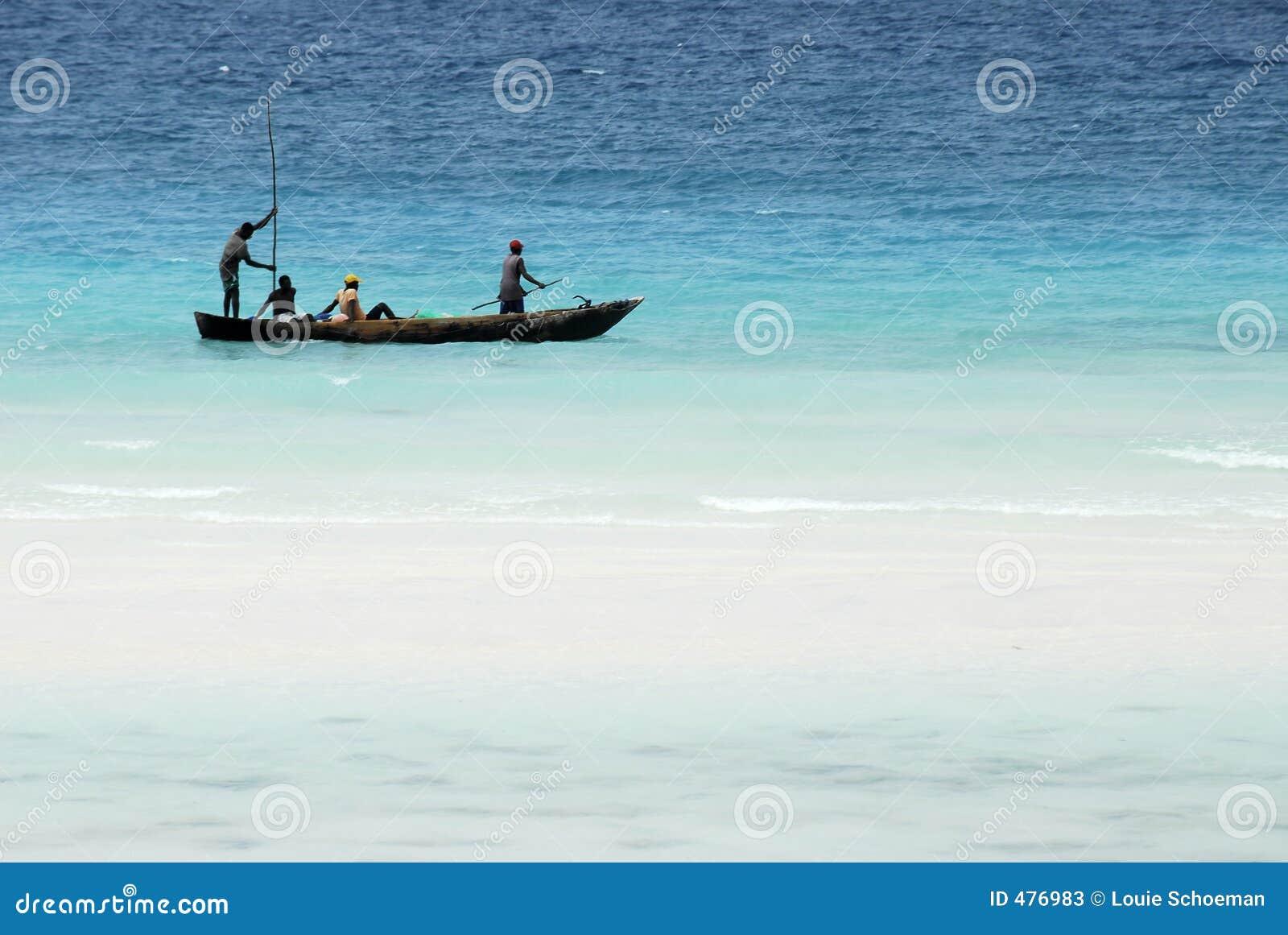 Pesca no console de Zanzibar